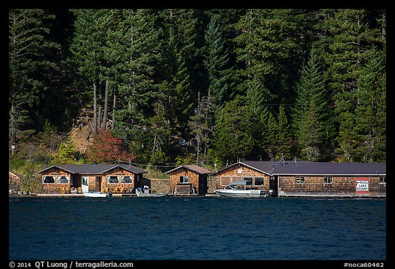 Ross Lake Resort, North Cascades National Park Service Complex.  (color)