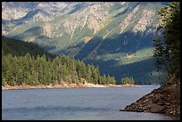 Water-level view of Ross Lake, North Cascades National Park Service Complex. Washington, USA.