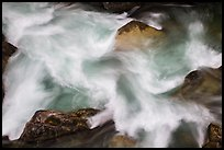 Stehekin river cascade detail, North Cascades National Park.  ( color)