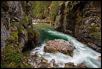Stehekin gorge below High Bridge, North Cascades National Park.  ( color)