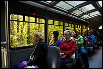 Aboard Stehekin Valley shuttle, North Cascades National Park Service Complex.  ( color)