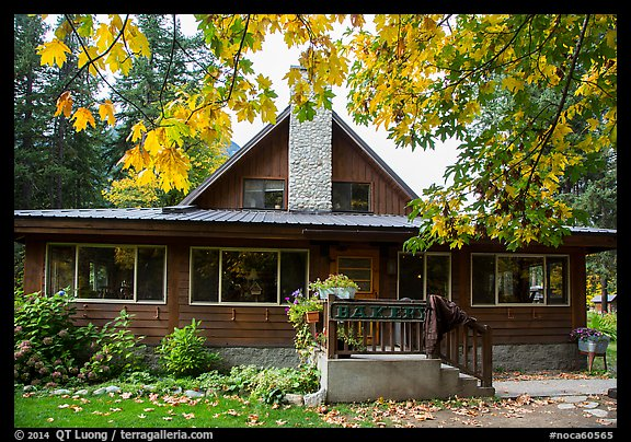 Bakery, Stehekin, North Cascades National Park Service Complex.  (color)