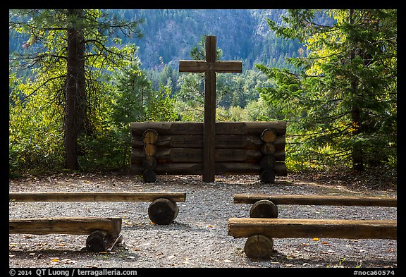 Groseclose meditation site, Stehekin, North Cascades National Park Service Complex.  (color)