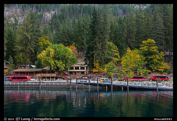 Stehekin Landing, North Cascades National Park Service Complex.  (color)