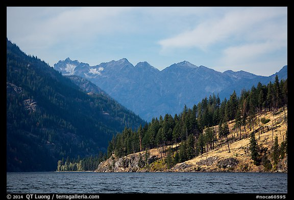 Peaks above Lake Chelan, North Cascades National Park Service Complex.  (color)