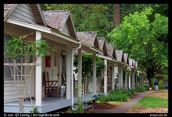 Cabins of Crescent Lake Lodge. Olympic National Park (color)