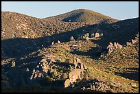Rolling Gabilan Mountains with rocks and chaparral. Pinnacles National Park ( color)