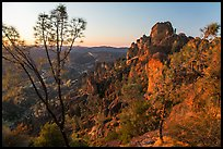 High Peaks at sunset. Pinnacles National Park ( color)