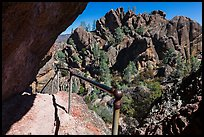 Trail passing under overhanging rock. Pinnacles National Park ( color)