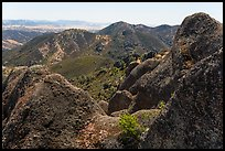 Gabilan Mountains landscape. Pinnacles National Park, California, USA. (color)
