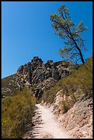 High Peaks trail. Pinnacles National Park, California, USA. (color)