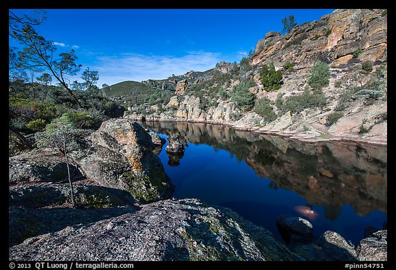 Bear Gulch Reservoir. Pinnacles National Park (color)