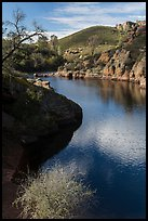 Ripples over water, Bear Gulch Reservoir. Pinnacles National Park ( color)