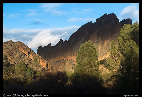 Shadows over Machete Ridge. Pinnacles National Park (color)