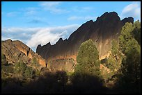 Shadows over Machete Ridge. Pinnacles National Park ( color)