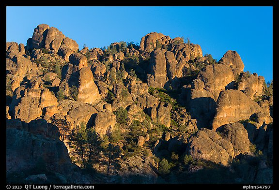 High Peaks pinnacles, late afternoon. Pinnacles National Park (color)
