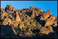 High Peaks pinnacles, late afternoon. Pinnacles National Park, California, USA. (color)