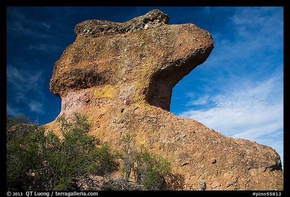 Anvil rock formation. Pinnacles National Park (color)