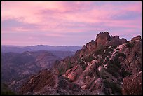 High Peaks at sunset. Pinnacles National Park, California, USA. (color)