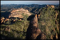 Balconies and pinnacle early morning. Pinnacles National Park ( color)