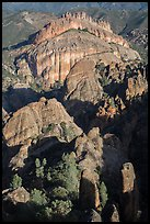 Balconies and Machete Ridge. Pinnacles National Park, California, USA. (color)