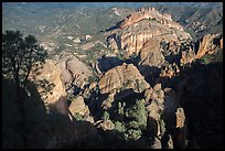 West side seen from High Peaks. Pinnacles National Park ( color)