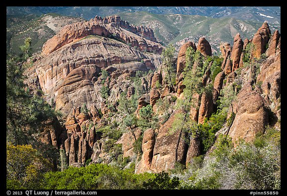 Pinnacles and Balconies cliffs. Pinnacles National Park (color)