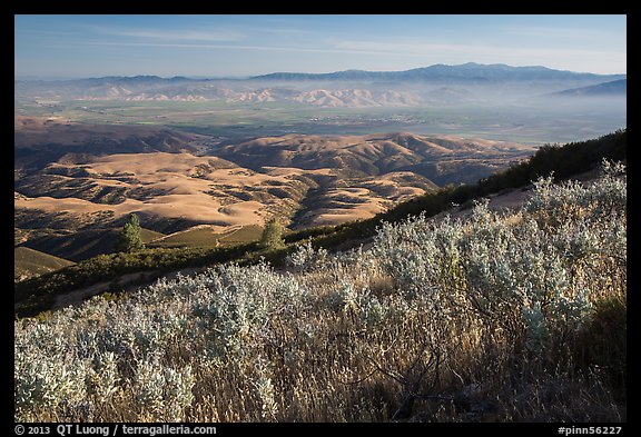 View over Salinas Valley from South Chalone Peak. Pinnacles National Park (color)