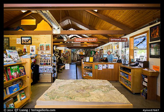 Inside Pinnacles Visitor Center and camping store. Pinnacles National Park (color)