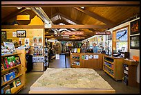 Inside Pinnacles Visitor Center and camping store. Pinnacles National Park, California, USA.