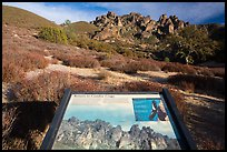 Condor Craggs interpretive sign. Pinnacles National Park ( color)