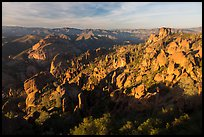 Balconies and Square Block in late afternoon. Pinnacles National Park ( color)