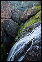 Bear Gulch Reservoir waterfall and boulder cave. Pinnacles National Park ( color)