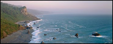 Coastline and bluffs. Redwood National Park (Panoramic color)