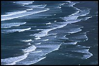 Surf on Crescent Beach, seen from above. Redwood National Park ( color)