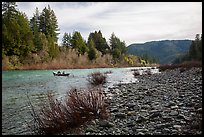 Smith River and boaters, Jedediah Smith Redwoods State Park. Redwood National Park ( color)