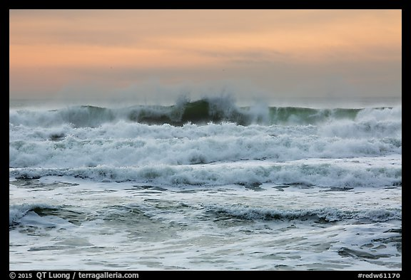 Breaking waves, Enderts Beach. Redwood National Park (color)