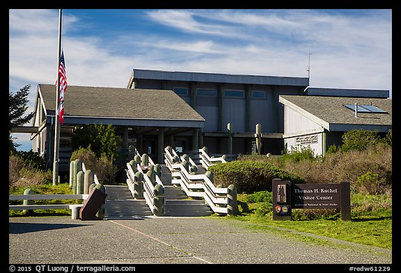 Kuchel Visitor Center. Redwood National Park (color)