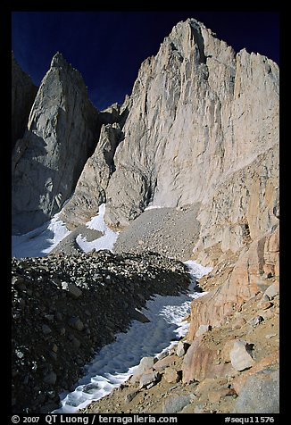 East face of Mt Whitney and Keeler Needle. Sequoia National Park (color)