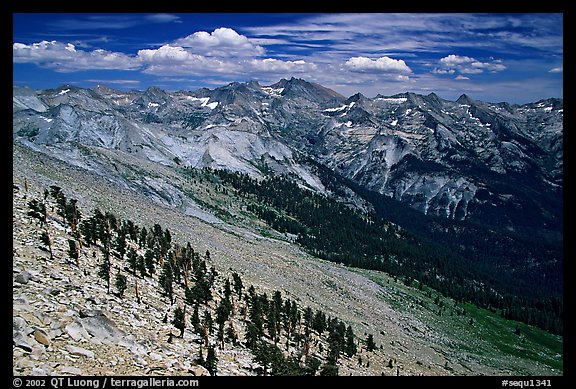 Western Divide from Alta Peak. Sequoia National Park (color)