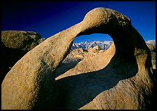 Alabama Hills Arch II and Sierra Nevada, early morning. Sequoia National Park ( color)