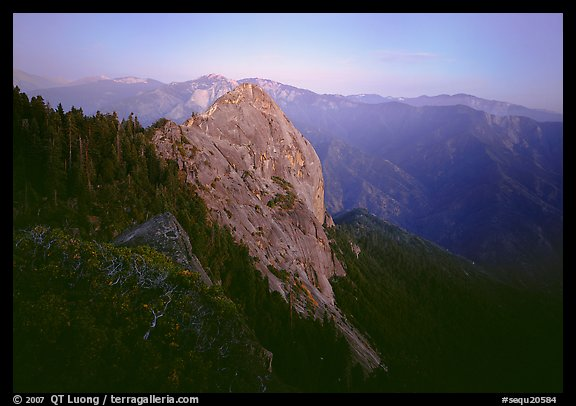 Moro Rock, dusk. Sequoia National Park (color)