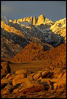 Alabama hills and Mt Whitney. Sequoia National Park ( color)