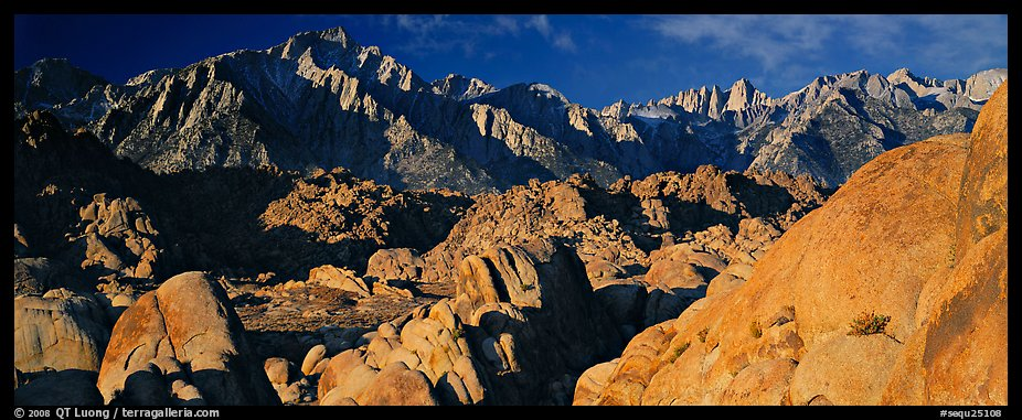 Boulders and Sierra Nevada. Sequoia National Park (color)