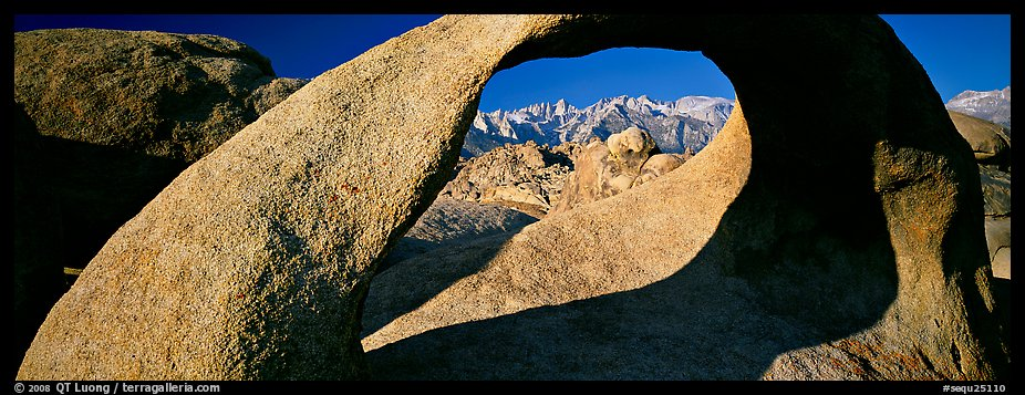Arch and mountains. Sequoia National Park (color)