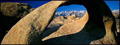 Arch and mountains. Sequoia National Park (Panoramic color)