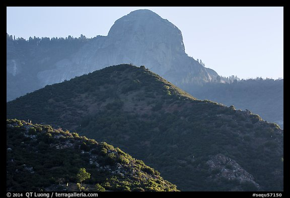 Hills below Moro Rock. Sequoia National Park (color)