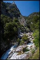 Marble fork of Kaweah River in deep canyon. Sequoia National Park ( color)