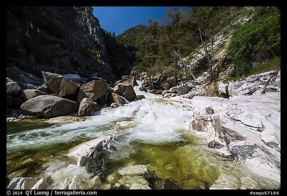 Marble fork of Kaweah River. Sequoia National Park (color)