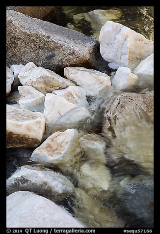 Marble rocks in river. Sequoia National Park (color)